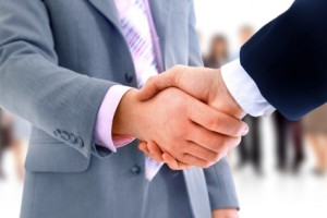 handshake isolated over business  background