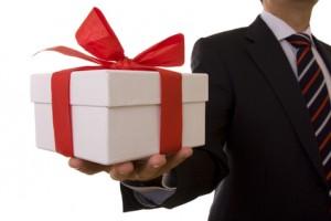 Businessman offer