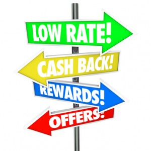 Low Rate Cash Back Rewards Offer Arrow Signs Best Credit Card De