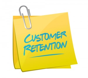 customer retention memo post illustration design over a white background